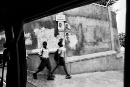 Schoolchildren, near Petionville
