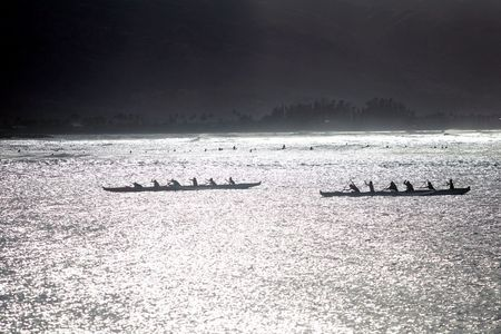 Outrigger Canoes, North Shore, Oahu - Hawaii