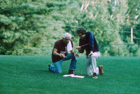 Leonard Bernstein with Conductor Richard Westerfield at Tanglewood, 1986