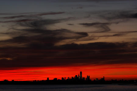 View of Manhattan as seen from the Rockaways, New York City