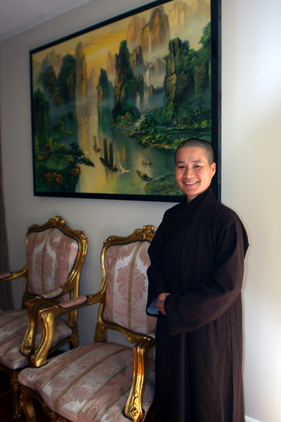 Lisa Le, a monk at the Van Hanh Buddhist Center near Mary Queen of Vietnam-Community Development Corporation (MQVN-CDC), an HTA grantee Lisa Le, a monk at the Van Hanh Buddhist Center near Mary Queen of Vietnam-Community Development Corporation (MQVN-CDC), a Community Based Organization in New Orleans East.