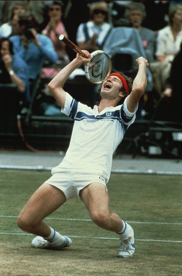 John McEnroe, after defeating Bjorn Borg, Wimbledon, 1981