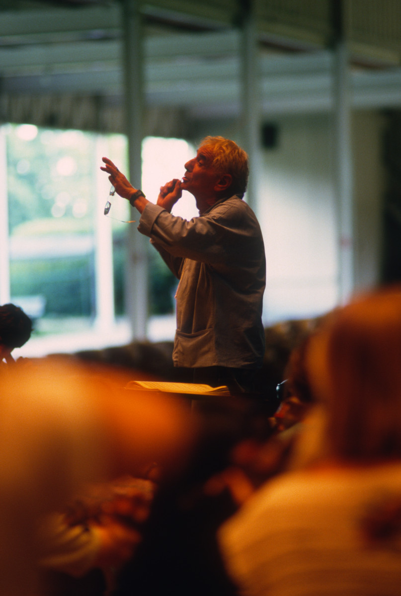 Leonard Bernstein teaching at Tanglewood.