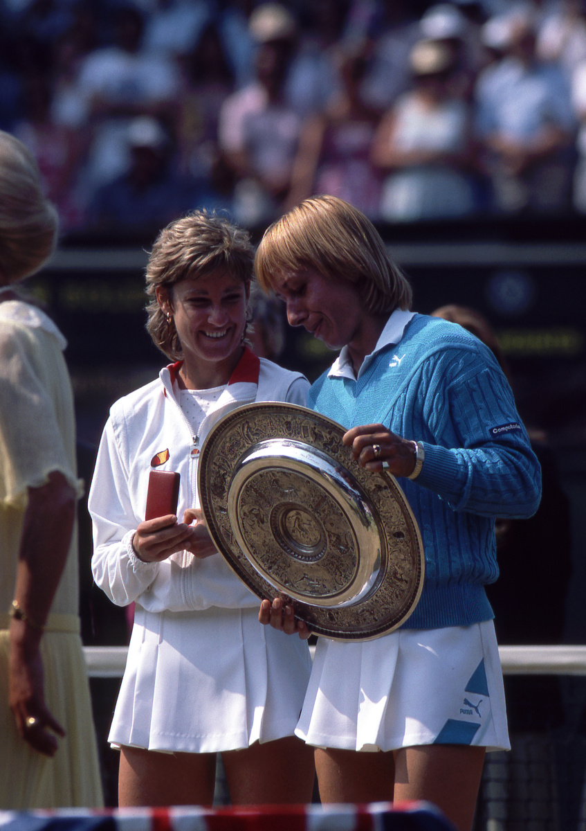 Martina Navratilova and Chris Evert, 1984 Wimbledon final