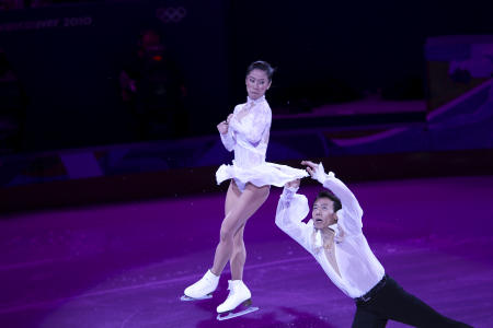 Shen Xue and Zhao Hongbo, Gold Medaiists, Pairs Skating.