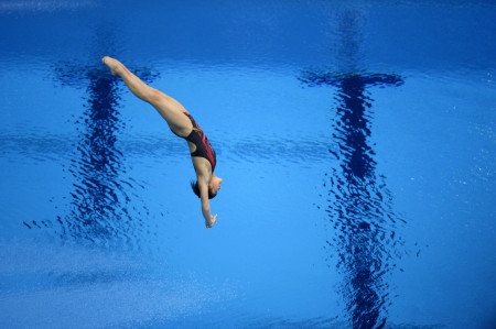 China's Hu Yadan during the Women's 10 Meter platform competition at the London Olympics.