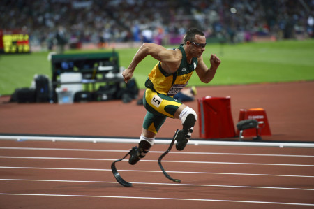 Oscar Pistorius of South Africa - Men's 400 Meter Semi-Final.