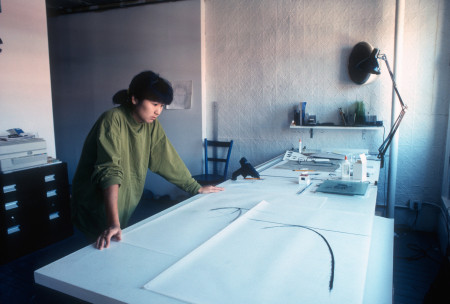 Maya Lin - With study for public installation, New York City